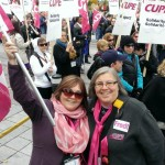 Chris Lang CUPE 1306 & Linda Bolton CUPE 126 Quebec City Legislature October 2013