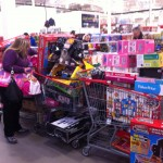 Sandra shopping for the kids - CUPE CARES!