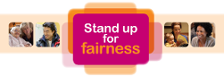 Stand Up For Fairness Logo